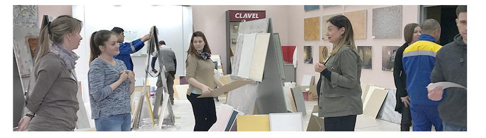 Мастер класс по нанесению декоративных покрытий Компания Clavel