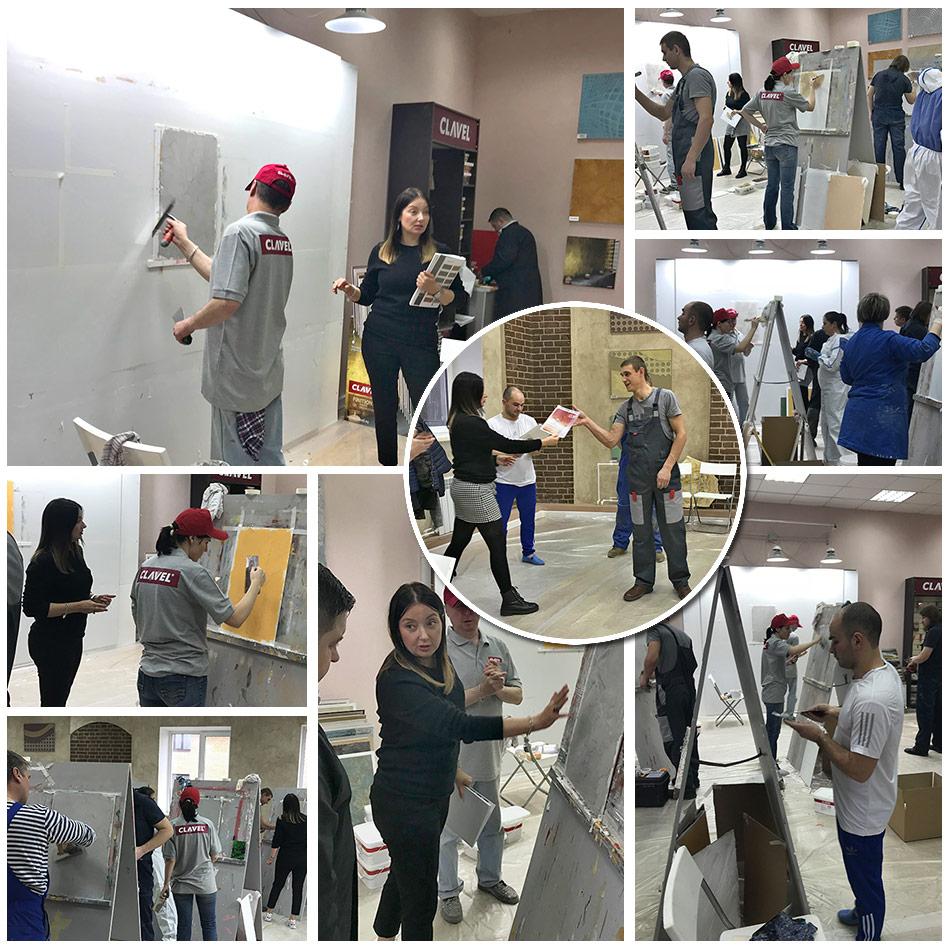 Мастер Класс по декоративным покрытиям в учебном центре Клавель