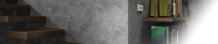 Loft-Beton - декоративная штукатурка, имитирующая различные фактуры арт-бетона