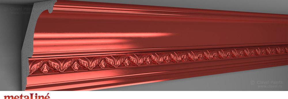 Metaline Cuprum - краска с эффектом металлик с медным блеском - Clavel