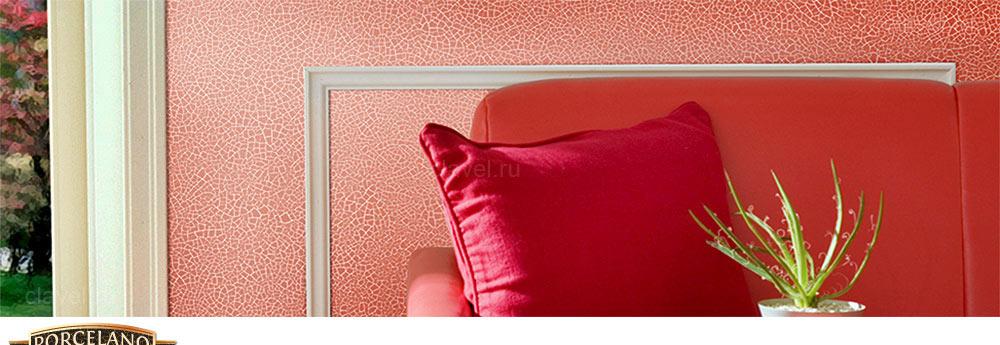 Porcelano - декоративное покрытие с эффектом сетки мелких кракелюрных трещин с эффектом потрескавшегося фарфора