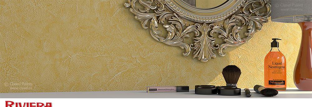 Riviera - структурная штукатурка на основе натуральных волокон и наполнителей, имитирующая фактуру камня.