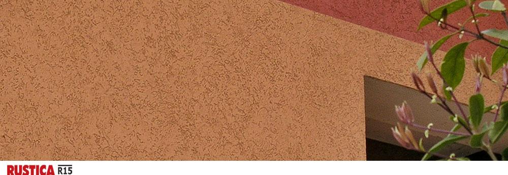 Rustica R15 - фасадная штукатурка с минеральной крошкой размером 1,5 мм для эффект короед