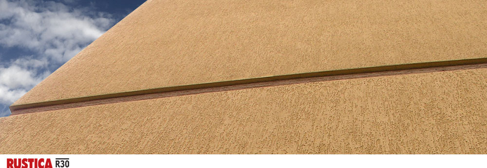 Rustica R30 - фасадная штукатурка с минеральной крошкой размером 3,0 мм для создания эффекта короед